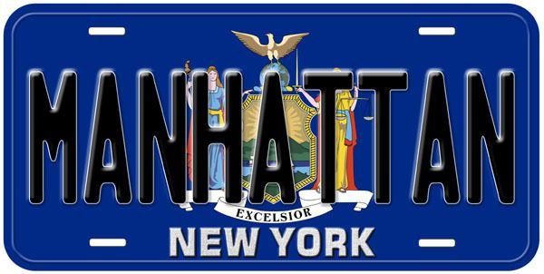 New York State Flag Personalized Car Auto License Plate